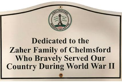 Zaher Family Memorial Sign